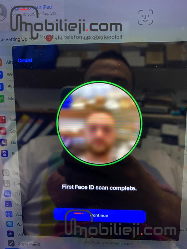 "Dužęs Apple iPad Pro 11"" (2018) ir neveikiantis Face ID"